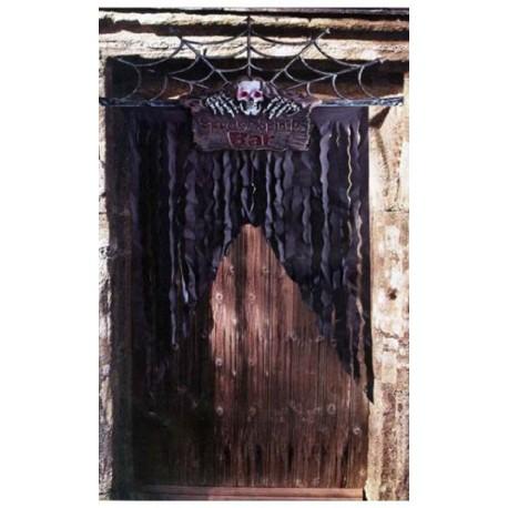 decoration-de-porte-avec-squelette-happy-halloween-rideau-noir