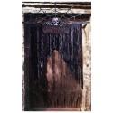 """Décoration de porte avec squelette """"Spooky-Spirits BAR"""" Rideau noir"""