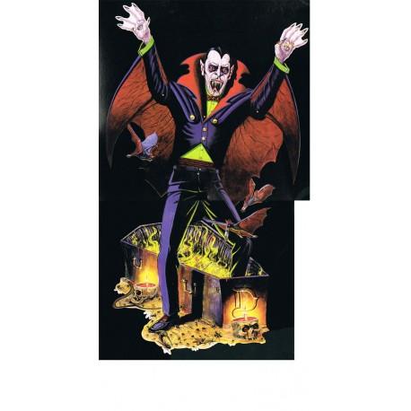 Découpe articulée très grande taille de vampire sortant de son cercueil