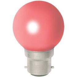 1 Ampoule à incandescence couleurs rouge pâle à douille baionette