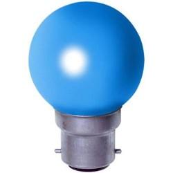 1 Ampoule à incandescence couleur bleu à douille baionette
