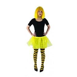 tutu jaune vif mini jupon mini jupe en voile cristal