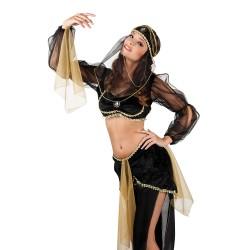 Odalisque noire et or danseuse orientale