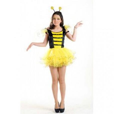 costume d'abeille en mini jupe
