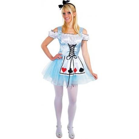 Alice déguisement robe courte