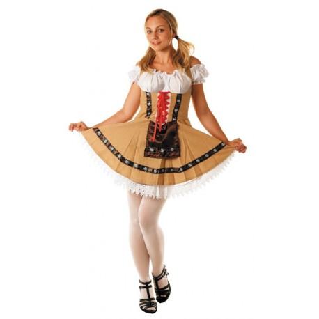 tyrolienne en robe sexy courte