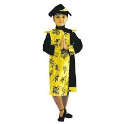 déguisement de jeune fille chinoise en robe mi longue 8 ans