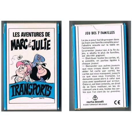 """le jeu des 7 familles """" les aventures de Marc et Julie"""""""