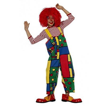 Salopette très coloré à motifs géométriques pour faire le clown