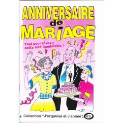 """Livret de jeux pour réussir votre soirée """" anniversaire de mariage """""""