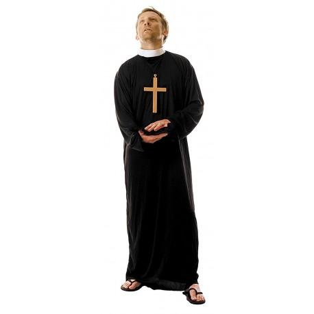 déguisement de prêtre grande taille XXL costume de curé