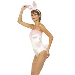 Body rose bunny sexy petit lapin taille unique adulte
