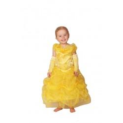 Costume de princesse frou-frou jaune avec jolies mitaines