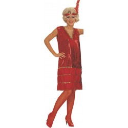 Robe charleston rouge madison roarin' red taille S