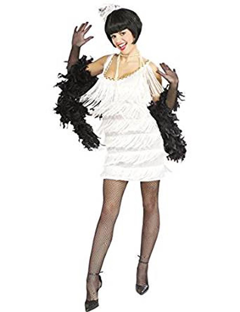 Robe Charleston Blanc Broadway Babe Taille M Festi Fiesta