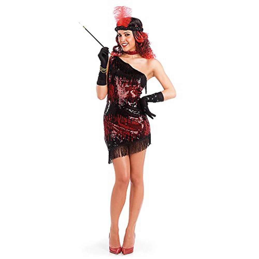 c1aced61fbbd7 Robe charleston rouge et noire