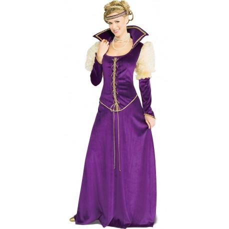 Lady Renaissance costume en panne de velours et galons dorés