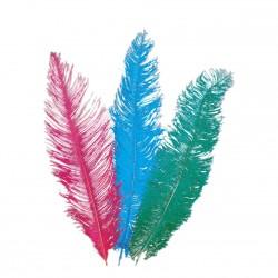 3 Plumes d'autruche couleur aléatoires de 45 à 50 cm plumes véritable