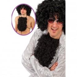 torse poilu ... poitrine velue poils frisés noir l'Homme sexy des année 1960 à 1970 années disco