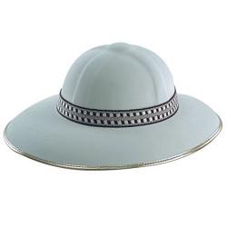 casque colonial chapeau pour safari couleur ivoire et doré