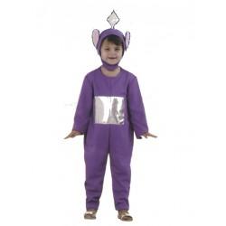 Costume Télé-bébé violet pour enfant de 3 à 4 ans