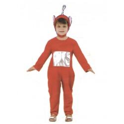 Costume Télé-bébé rouge enfant 3 à 4 ans