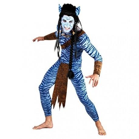 homme-bleu-de-la-jungle-guerrier