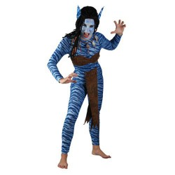 Femme bleue de la jungle guerrière S/M