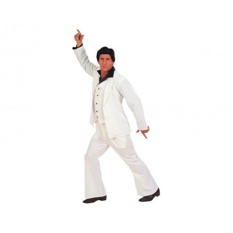 Saturday Night Fever costume blanc disco taille unique