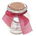 6 petites jarres en verre et bouchon en liège vendues vide, flacons à décorer pour dragées