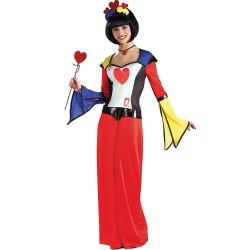 Dame de coeur en robe droite longue taille unique