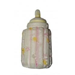 Figurine miniature 1 petit biberon légèrement rose 3 centimètres de haut