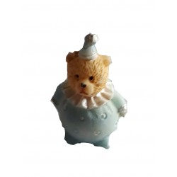 Figurine miniature 1 petit biberon légèrement bleu 3 centimètres de haut