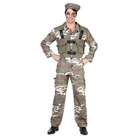 Militaire soldat camouflage taille adulte S déguisement taille 52