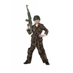 Soldat déguisement de militaire en tenue de camouflage taille 16 ans