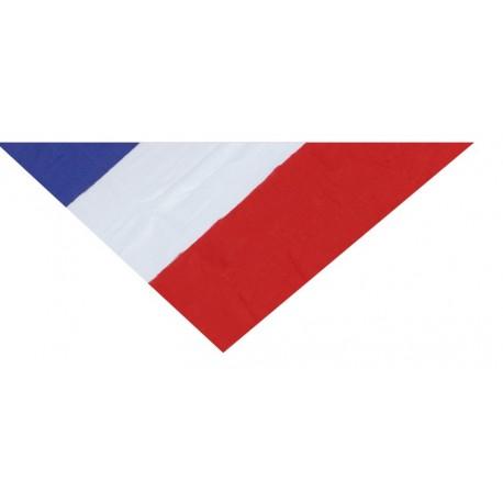 Bandana drapeau français foulard carré avec de drapeau France 54 cm