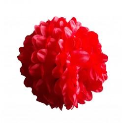 Fleur rouge sur pince noire la fleur est grande taille 15 centimètres