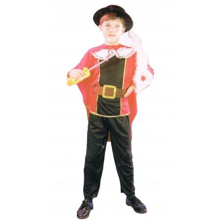 Mousquetaire déguisement enfant 4 à 6 ans rouge et noir