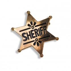 Etoile de shérif en métal doré sur broche