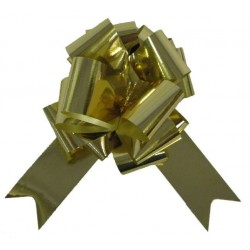 4 nœuds dorés métallisés à tirer Noeuds automatiques 5 centimètres de large
