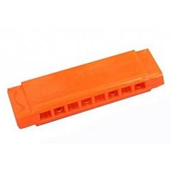 1 mini harmonica en plastique couleur aléatoire