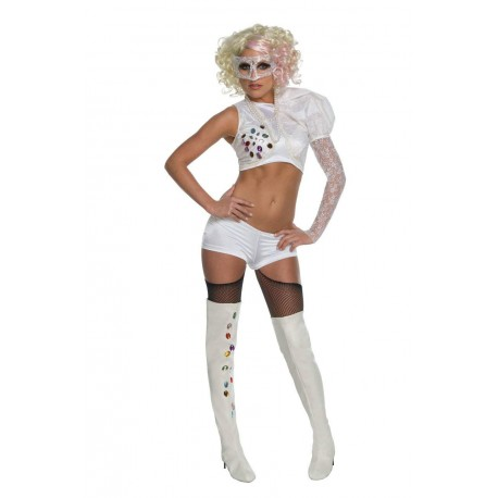 Déguisement Lady Gaga sous licence Rubie's taille XS ensemble blanc