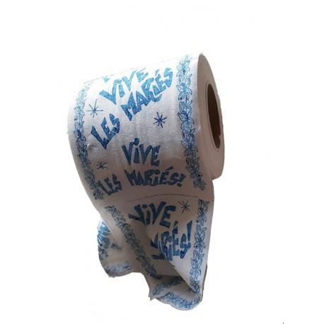 """1 Rouleau papier toilette """" vive les mariés"""" papier luc papier hygienique"""