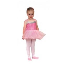 Ballerine rose en voile avec 2 petits chaussons