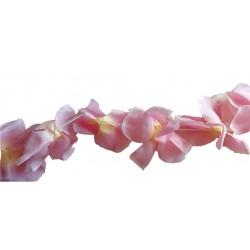 Guirlande de fleurs rose à suspendre magnolia 2 mètres diamètre 8 à 10 centimètre