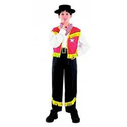 Cow boy déguisement pour enfant jaune et rouge 4 à 6 ans