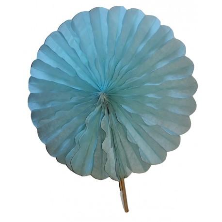 Eventail en papier alvéolé couleur parme diamètre 68 centimètres