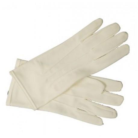 Gants ivoire de cérémonie pour homme taille 9 sur le dessus de la main 3 coutures