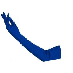 Gants en satin couleur bleu roi très long 48 cm gants de soirée