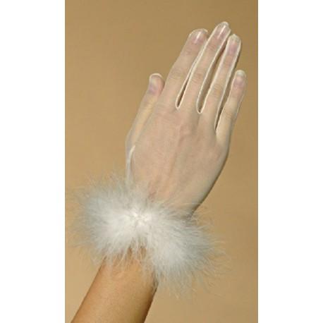paire-de-gants-ivoire-en-voile-et-marabout-modèle-court-Crinoligne-Enflammee